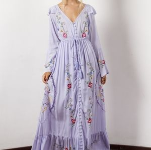 Fillyboo embroidered duster dress